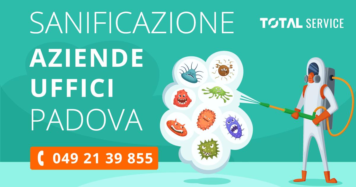 Sanificazione Aziende e Uffici Padova